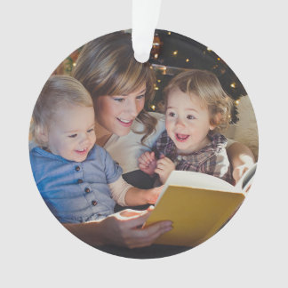 De Foto van de Familie van de Winter van het Ornament