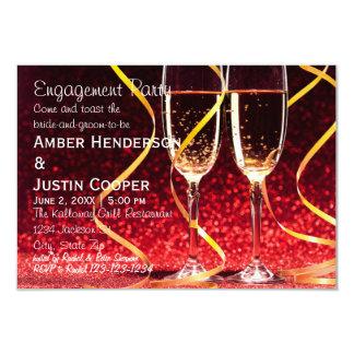 De Foto van de Glazen van Champagne - de Partij Kaart