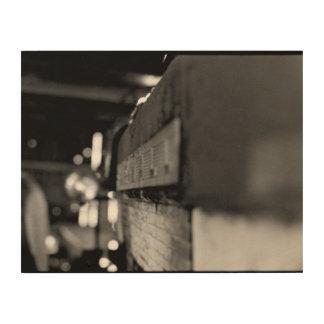De Foto van de Muur van de tractor Hout Afdruk