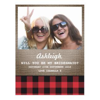 De Foto van de plaid & van de Jute zal u Mijn Briefkaart