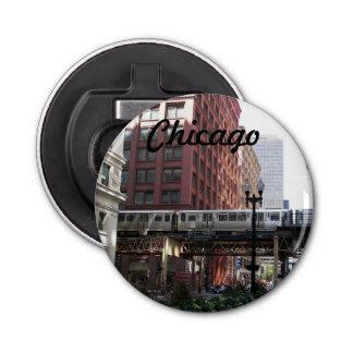 De Foto van de Reis van Chicago Button Flesopener