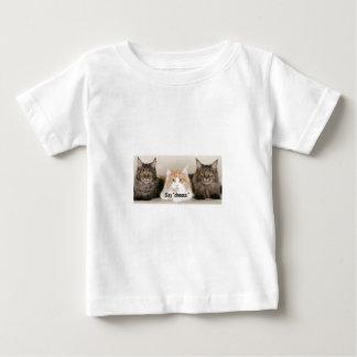 """De Foto van de studio - 3 Katten die """"Kaas zeggen Baby T Shirts"""