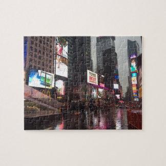 De Foto van de Tekens van het Neon van de Stad NYC Legpuzzel