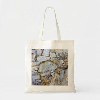De Foto van de Textuur van de Muur van de rots op Budget Draagtas