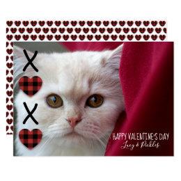 De Foto van de Valentijnsdag van de Plaid XOXO Kaart