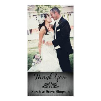 De Foto van de zilveren bruiloft dankt u Kaart