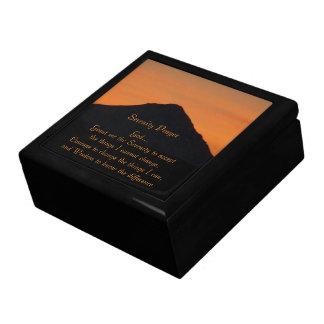 De Foto van de Zonsondergang van de Berg van het Decoratiedoosje
