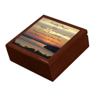 De Foto van de Zonsondergang van het Zeegezicht Decoratiedoosje