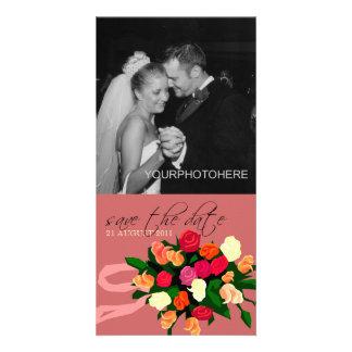 De Foto van het Boeket van het huwelijk bewaart de Fotokaart Sjabloon