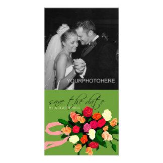 De Foto van het Boeket van het huwelijk bewaart de Persoonlijke Fotokaarten