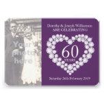 De foto van het het harthuwelijk van de diamant 60 custom uitnodigingen