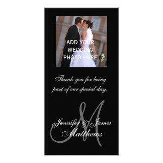 De Foto van het huwelijk dankt u de Namen van het  Kaart