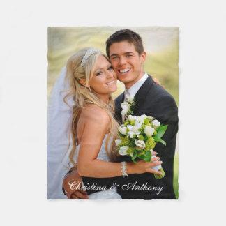 De Foto van het Huwelijk van de douane Fleece Deken