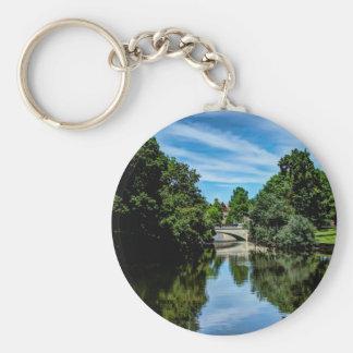 De foto van het landschap sleutelhanger