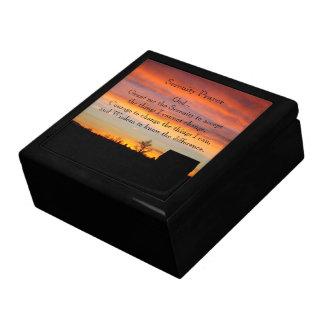 De Foto van het Silhouet van de Zonsondergang van Decoratiedoosje