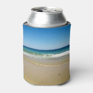 De foto van het strand blikjeskoeler
