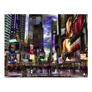 De Foto van het Times Square in HDR Briefkaart