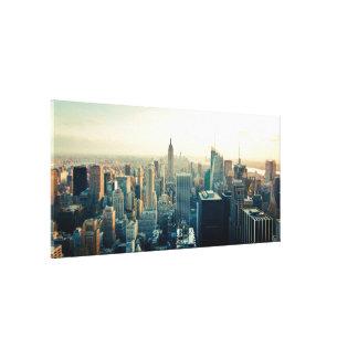 De Foto van Manhattan Stretched Canvas Afdrukken