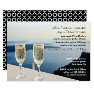 De Foto van twee Glazen van Champagne - de 12,7x17,8 Uitnodiging Kaart