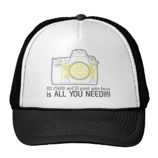 De fotograaf Nikon D700 is allen u wenst Trucker Cap