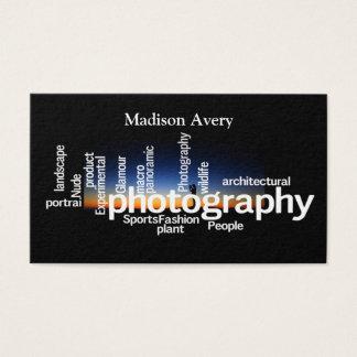 De Fotograaf van de Zonsopgang van de Typografie Visitekaartjes