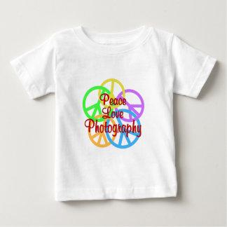 De Fotografie van de Liefde van de vrede Baby T Shirts