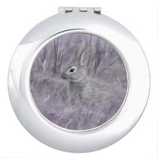 De fotografieart. van het Konijn van het konijntje Make-up Spiegel
