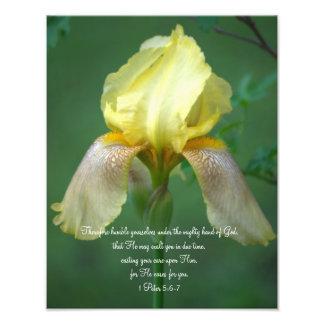 De Fotografische Druk van het Vers van het Heilige Foto Afdruk