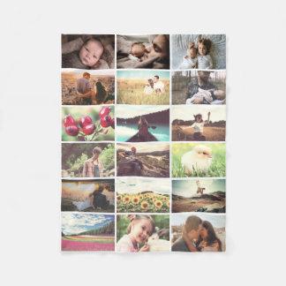 De fotomozaïek van de familie fleece deken