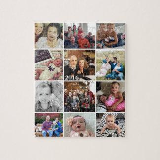 De Foto's van de Familie van de Collage van de Foto Puzzels