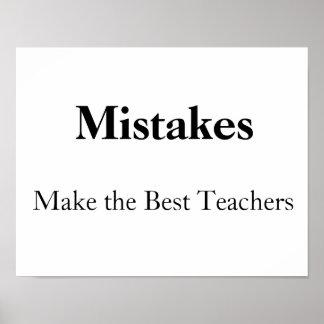 de fouten maken de beste leraren poster