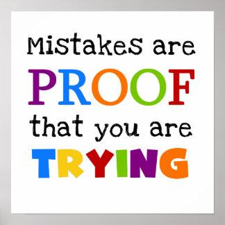 De fouten zijn Bewijs u probeert Poster