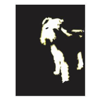 De fox-terrier van het neon briefkaart