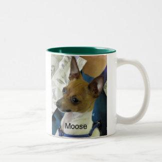 De Fox-terrier van het speelgoed Tweekleurige Koffiemok