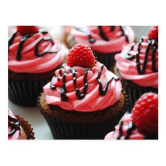 De Framboos Cupcake van de chocolade Briefkaart