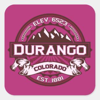 De Framboos van het Logo van durango Vierkante Sticker