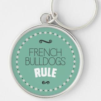 De Franse Groene Regel van Buldoggen - Sleutelhanger