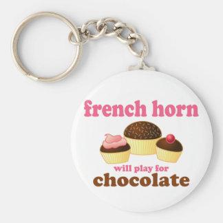 De Franse Hoorn van de chocolade Sleutel Hanger