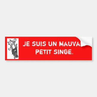 """De Franse """"ik sticker ben van de een slechte klein"""