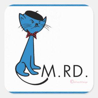 De Franse Kat zegt M.RD. Sticker