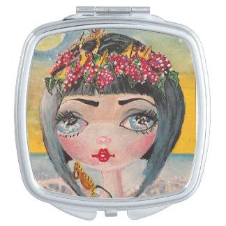 De Franse spiegel van Princesd van de Kaas van de Make-up Spiegeltjes