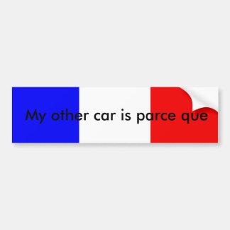 De Franse sticker van de woordspelingsbumper