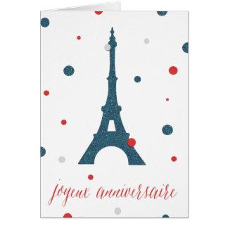 De Franse Verjaardag van de Toren van Eiffel Wenskaart