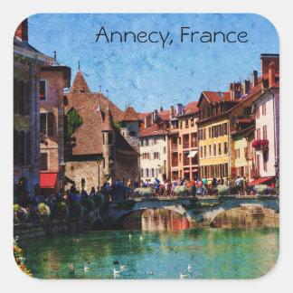 De Franse Vierkante Sticker van het Landschap