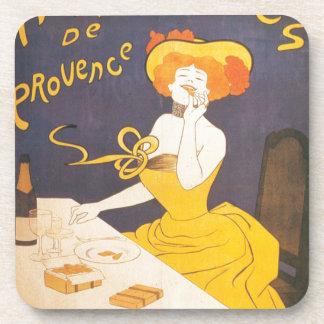 De Franse vintage illustratie van Amandines DE de Drankjes Onderzetters