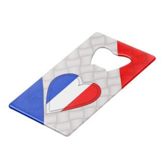 De Franse Vlag van Frankrijk Creditkaart Flessenopener