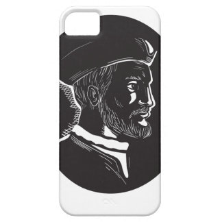 De French Explorer Oval Houtdruk van Jacques Barely There iPhone 5 Hoesje