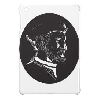 De French Explorer Oval Houtdruk van Jacques Hoesje Voor iPad Mini
