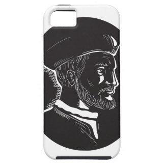 De French Explorer Oval Houtdruk van Jacques Tough iPhone 5 Hoesje