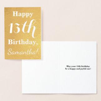 De fundamentele Gouden Verjaardag van de Folie Folie Kaarten